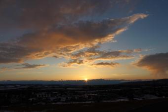 DCTgardenからの夕陽