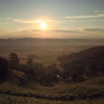 夏の清見の丘